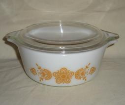 PYREX #472-B Butterfly Gold 1 Quart Cinderella Casserole Dish - $21.95