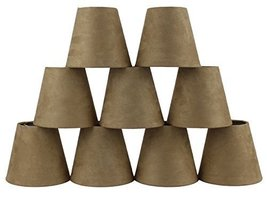Urbanest Set of 9 Tan Suede Hardback Chandelier Lamp Shade, 3-inch by 5-inch by  - $66.32