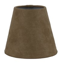 Urbanest Tan Suede Hardback Chandelier Lamp Shade, 3-inch by 5-inch by 4.5-inch, - $9.89