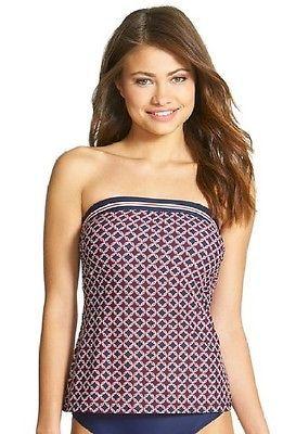 NEW Tommy Hilfiger Core Navy Citta Bandini Tankini Top Swimwear size XS