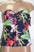 NEW Tommy Hilfiger Tie Front Bandeau Tankini Top Swimwear size XS Strapless - $27.22