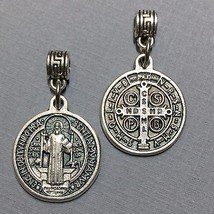 Saint Benedict San Benito Exorcism Devil Protection Medal Silver Tone 3/4 Inch - $14.99