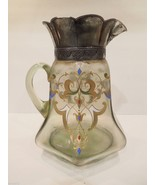 PITCHER Bohemian SILVER PLATED METAL  ANTIQUE 1890 - 1910 ITALIAN RENASC... - $150.00