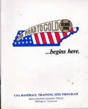 1988 USA BASEBALL OLYMPIC PROGRAM Abbott Ventura Martinez McDonald Morin... - $13.55