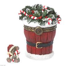 "Boyds Treasure Box ""Santa's Festive Basket w/Sticky McNibble"" #4041889-1E -NIB - $29.99"