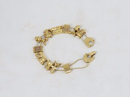 Charm Bracelet, Antique Furniture ~ TOFA Classic Slider, Gold Toned #543... - £7.42 GBP