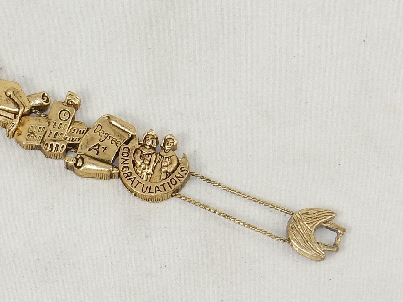 Charm Bracelet, College Graduate, Classic TOFA Slider ~ Gold or Silver Tone