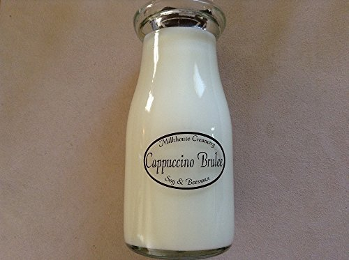 Milk Bottle Jar Candle Made in the USA is an Organic Beeswax Candle Cappucino