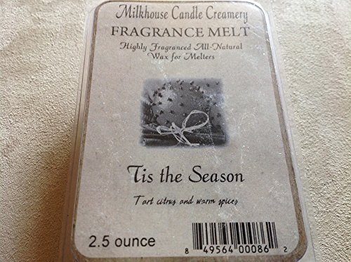Milkhouse Candle Creamery Soy Beeswax Scented 2.5 Oz. Fragrance Melt (Tis the...