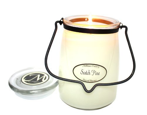 Milkhouse Candle Creamery Butter Jar Candle, Scotch Pine, 22-Ounce [Misc.]