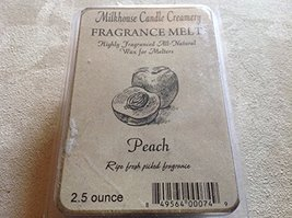 Milkhouse Candle Creamery Soy Beeswax Scented 2.5 Oz. Fragrance Melt (Peach)