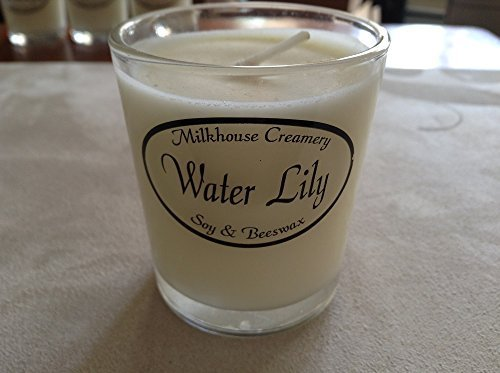 Milkhouse Creamery Soy Beeswax Scented Candle - Water Lily (2.2 Oz Butter Sho...