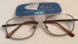 Magnivision 20/20 Marty Men's Brown Metal Reading Glasses +1.00 - $14.99