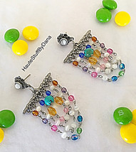Multi-color Semi precious Chandelier Earring On... - $19.00