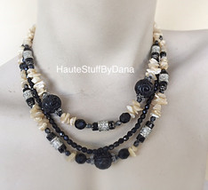 Design By Dana Black & White layered Necklace S... - $59.00