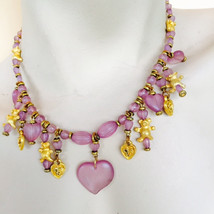 Design By Dana Frosted Lilac Heart & Teddy Bear... - $29.00