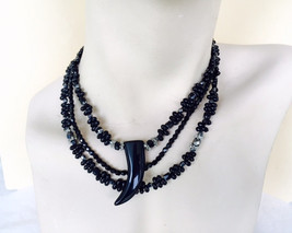 Design By Dana One of a kind Black Onyx Horn Pe... - $63.00
