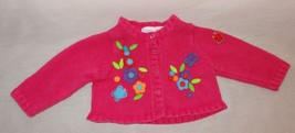 Sweater Flowers Size 0-3 Months Long Sleeve Baby Beginnings Pink Multi-C... - $15.78