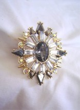 New BEBE in Gold Pewter Stones Sunburst Ring One size fits All - $17.60