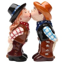 Cowboy and CowgirlMagnetic Ceremic Salt and Pepper Shakers - $12.61