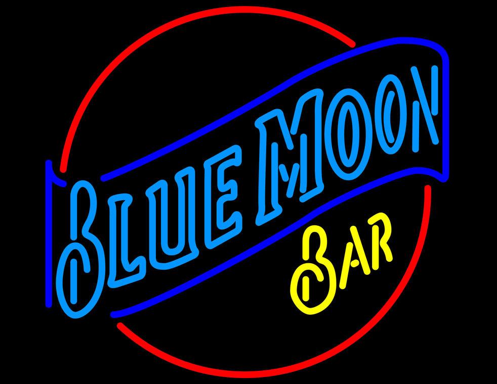 blue moon bar neon sign neon. Black Bedroom Furniture Sets. Home Design Ideas