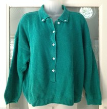 Vintage 80's One Step Up Cropped Sweater Women Junior Size L - $24.74