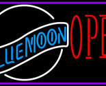 Blue moon white open neon sign 16  x 16  thumb155 crop