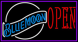 Blue Moon White Open Neon Sign - $699.00