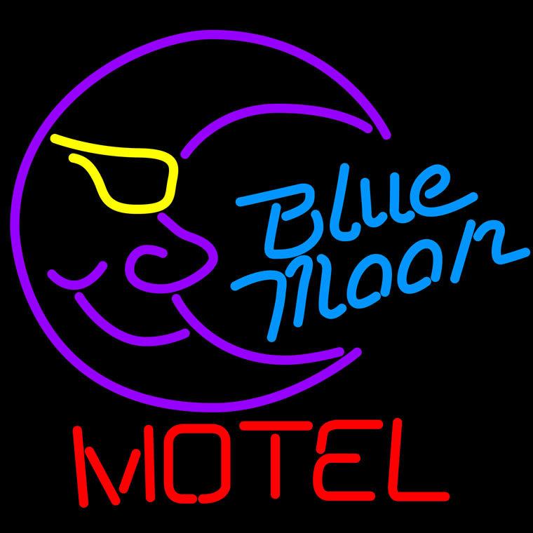 Blue Moon Motel Neon Sign - Neon