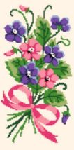 "Latch Hook Pattern Chart: READICUT #111 Violets Boquet 22"" x 44""  - EMAIL2u - $6.95"