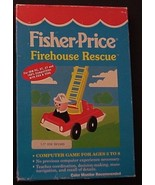 Fisher-Price Firehouse Rescue IBM PC, XT, AT video game 3.5 Disk GameTek 1988 - $14.95