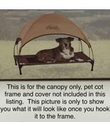 "K & H Pet Cot Canopy Fits K&H Cot Sizes 30 x 42 x 7"" Tan Large New Dog Cat - $19.00"