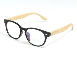 Mens Womens Handmade Wooden Round Eyeglasses Glasses Frame Rx-able Spect... - $12.67