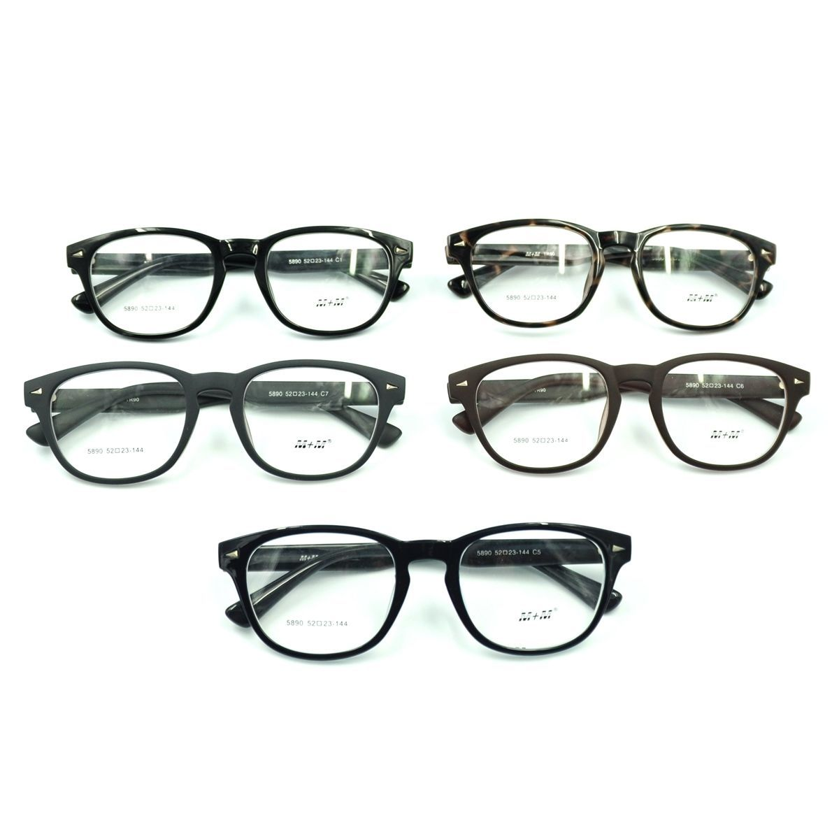 Vintage Horn Rim Mens Acetate Eyeglasses Frame Rx Spectacles Optical Eyewear - $15.19