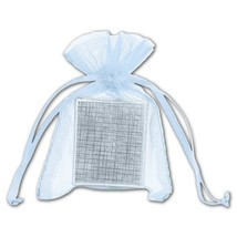 Light Blue Organdy Bags - 36 count - $8.00+