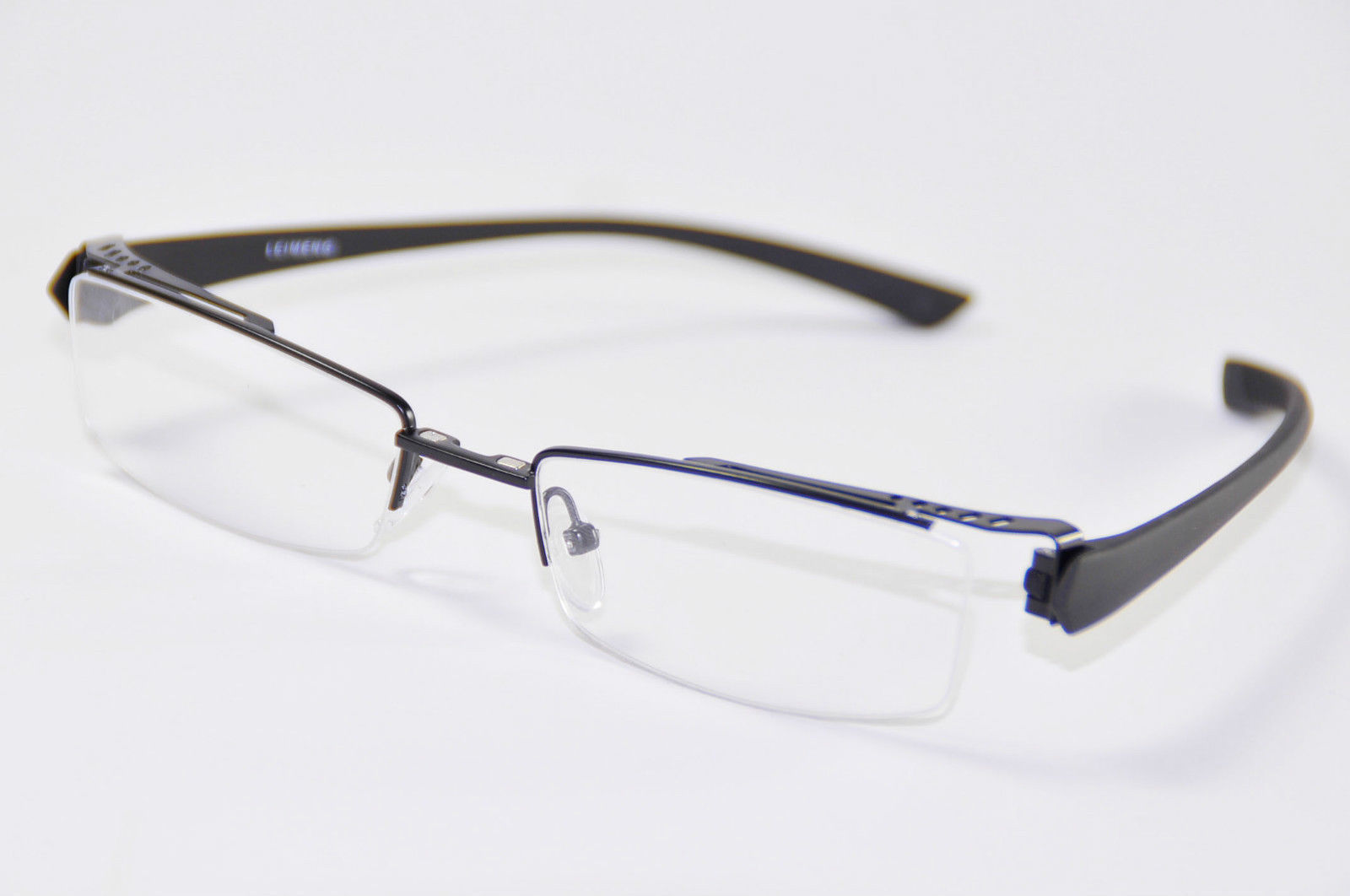 Mens Womens Half Rimless Glasses Spectacles Frame with ...