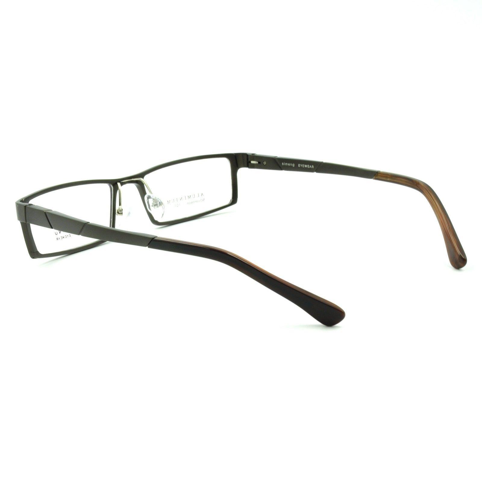 New Mens Full Rim Rectangular Eyeglasses Frames Spring ...