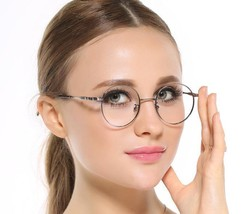 Vintage Womens Round Oval Eyeglass Frames Clear Lens Rx-able Spectacles Retro - $18.99