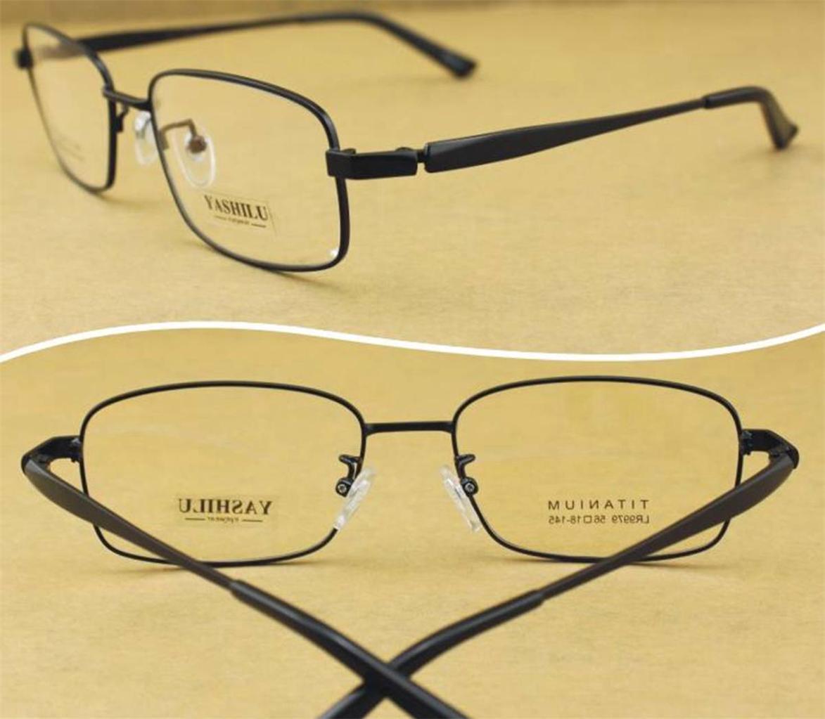 New Pure Titanium Spectacles Mens Full Rim Rx BROAD FACE ...