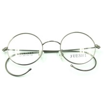 44mm Antique Vintage Metal Round Gray Wire Rim Eyeglasses Frame Spectacles Rx - $26.61