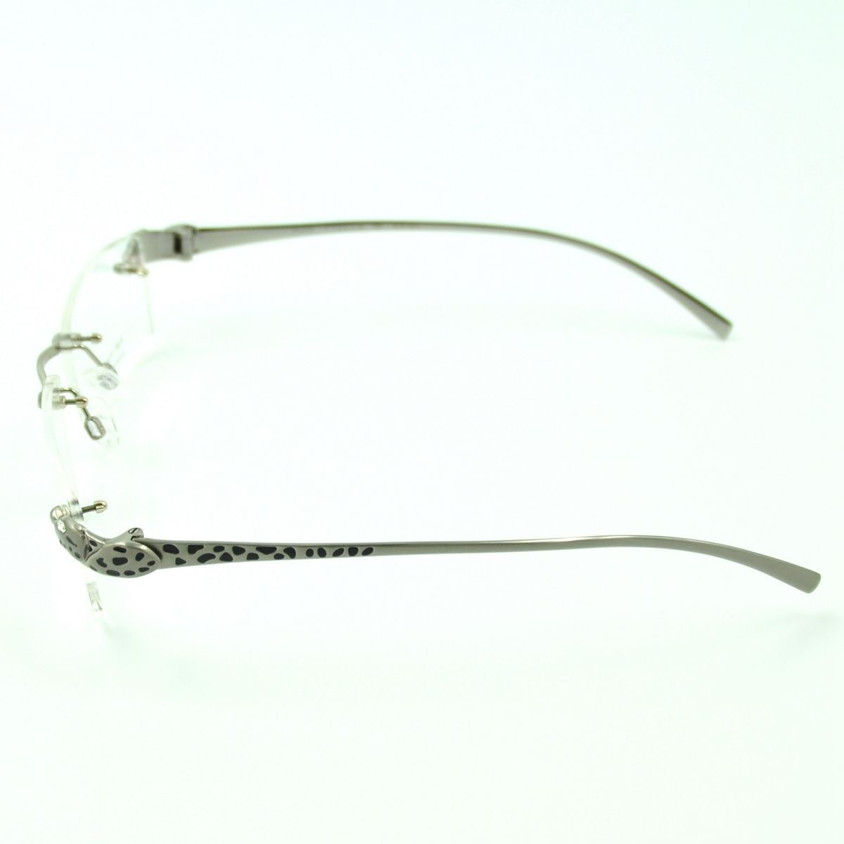Designer Eyeglass Frames For Large Heads : Designer Mens Titanium Rimless Leopard Head Eyeglass ...