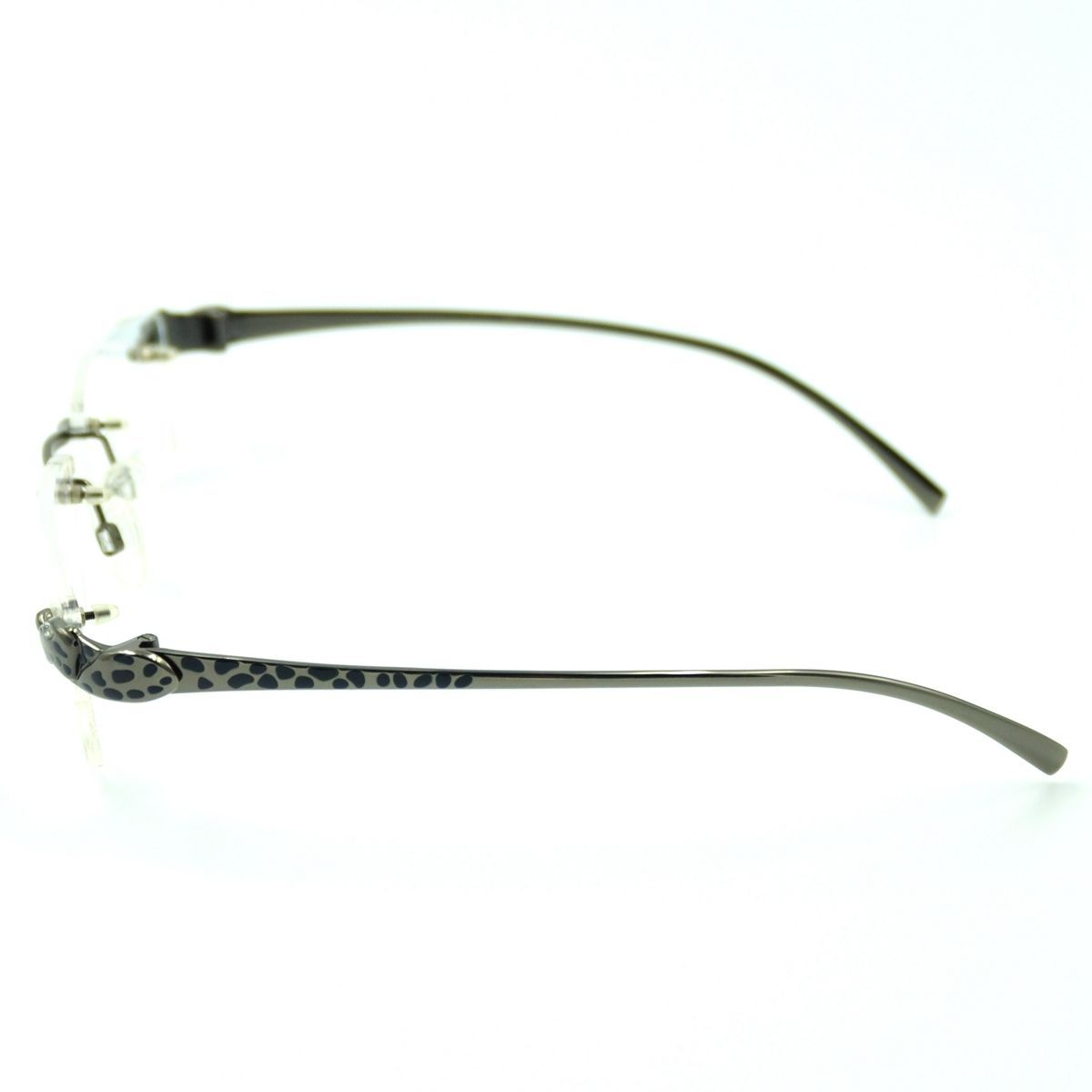 Designer Eyeglass Frames For Big Heads : Designer Mens Titanium Rimless Leopard Head Eyeglass ...