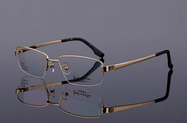 Mens 100% Pure Titanium Half Rimless Eyeglasses Frames Rx Spectacles Glasses - $47.49