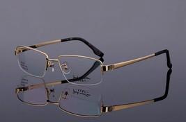 Mens 100% Pure Titanium Half Rimless Eyeglasses Frames Rx Spectacles Gla... - $47.49