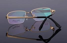 Mens 100% Pure Titanium Half Rimless Eyeglasses Frames Rx Spectacles Glasses image 2