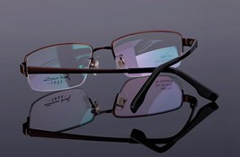 Mens 100% Pure Titanium Half Rimless Eyeglasses Frames Rx Spectacles Glasses image 4