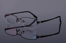 Mens 100% Pure Titanium Half Rimless Eyeglasses Frames Rx Spectacles Glasses image 8