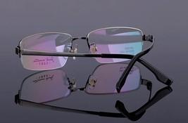 Mens 100% Pure Titanium Half Rimless Eyeglasses Frames Rx Spectacles Glasses image 5