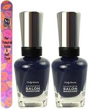 Sally Hansen Complete Salon Manicure #834 DARK KNIGHT (PACK OF 2)Plus a Free ... - $19.99