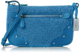 COACH Women's Shearling Small Rhyder Pochette Sv/Peacock Cross Body - $138.59